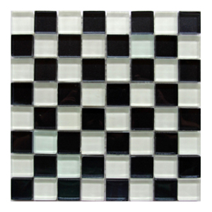 Mosaic Glass White Black